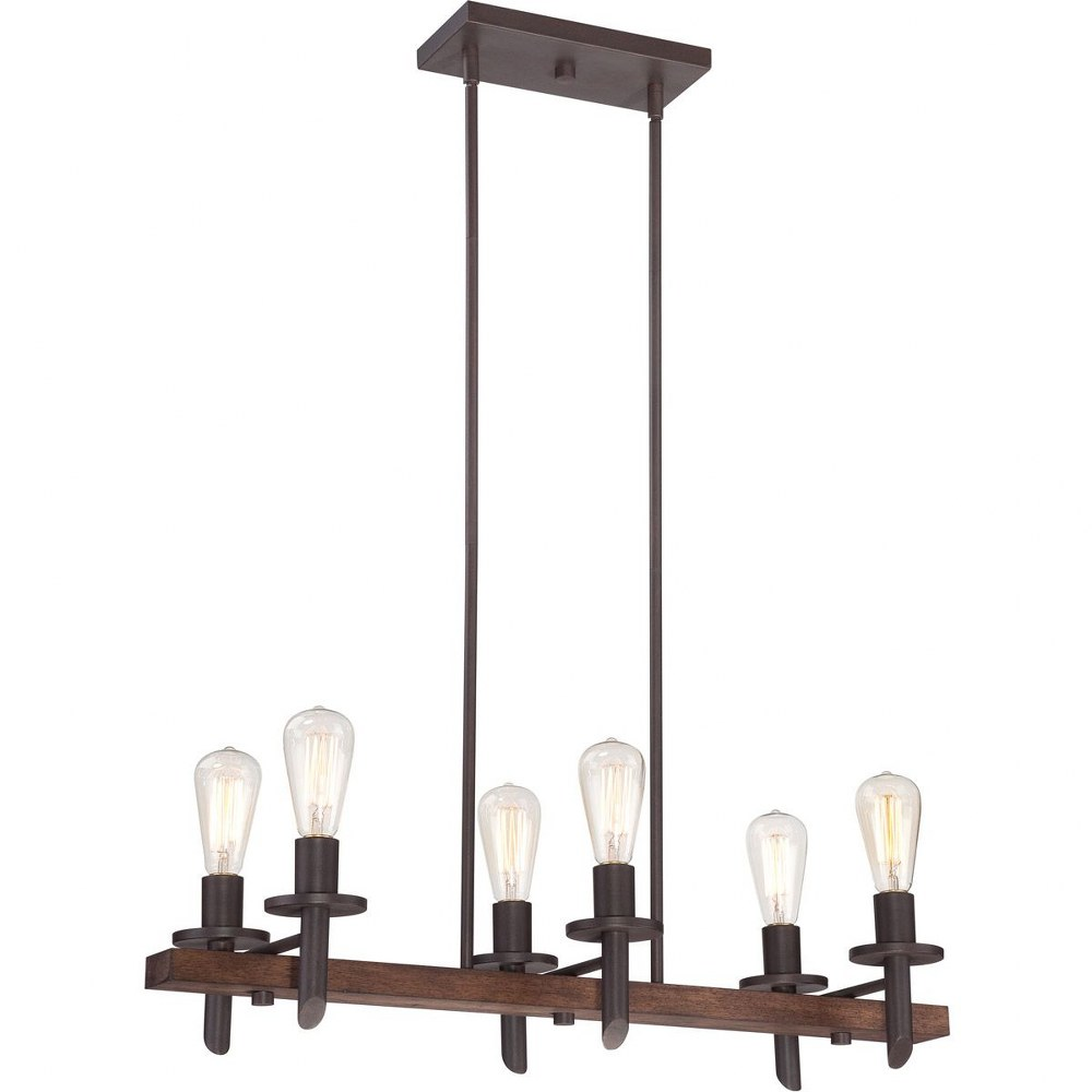 Quoizel Lighting-TVN232DK-Tavern - 6 Light Pendant  Darkest Bronze Finish