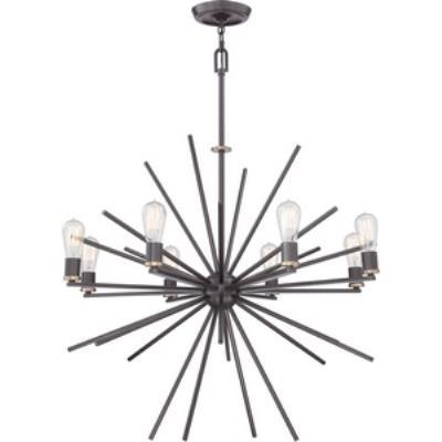 Quoizel Lighting UPCN5008WT Uptown Carnegie - Eight Light Chandelier