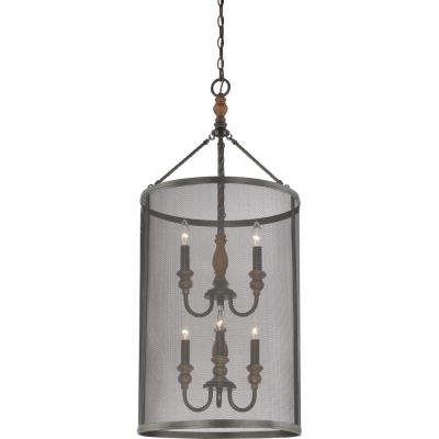 Quoizel Lighting ODL5206IB Odell - Six Light Extra Large Cage Foyer