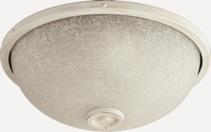 Quorum Lighting-1395-870-Marsden - Two Light Patio Fan Kit  Persian White Finish with Linen Shade