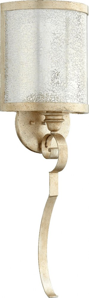 Quorum Lighting-5481-1-60-Champlain - One Light Wall Mount  Aged Silver Leaf Finish with Vintage Champagne Glass
