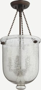 Quorum Lighting-6720-5-86-Five Light Entry  Oiled Bronze Finish with Silver Mercury Glass