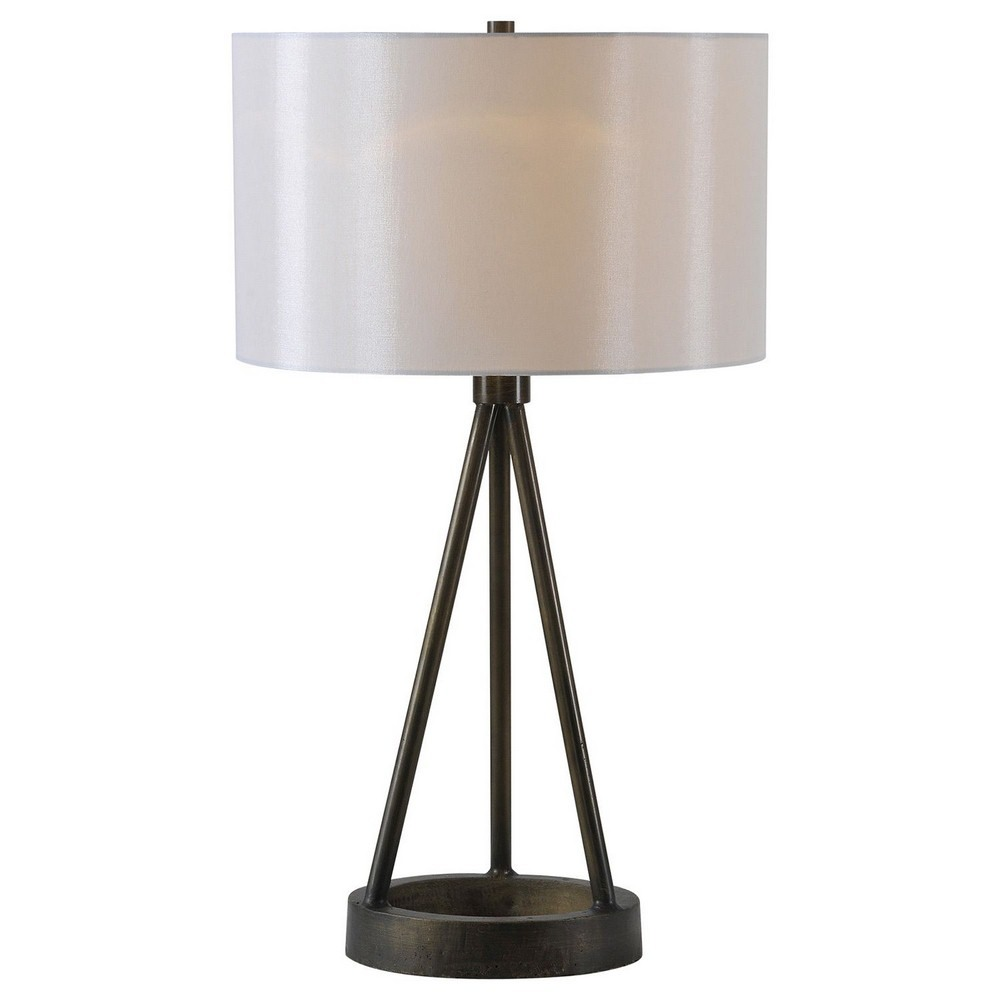 Renwil Inc-LPT489-Celia - Two Light Small Table Lamp  Painted Finish with Off-White Silk Shade