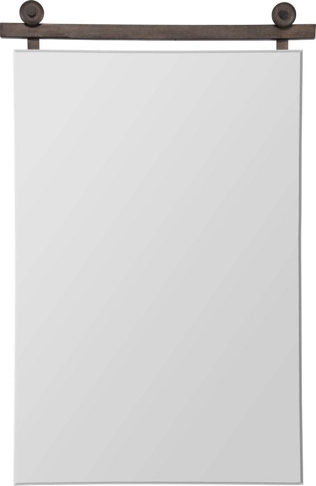 Renwil Inc-MT2059-Sersha - 40 Inch Medium Rectangular Mirror  Graphite Bronze Painted Finish