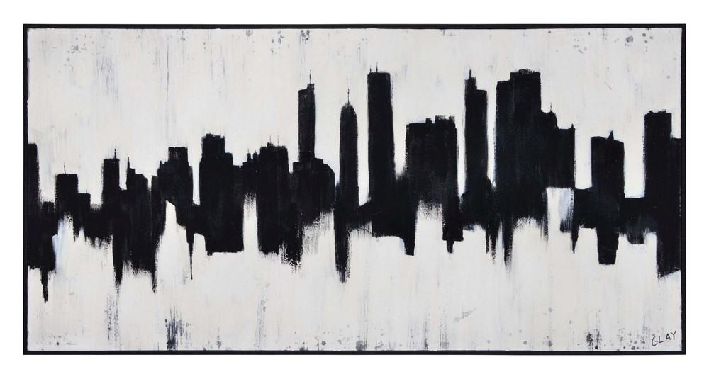 Renwil Inc-OL1736-Barnes - 60 Inch Large Rectangular Wall Art  Textured/Black Finish