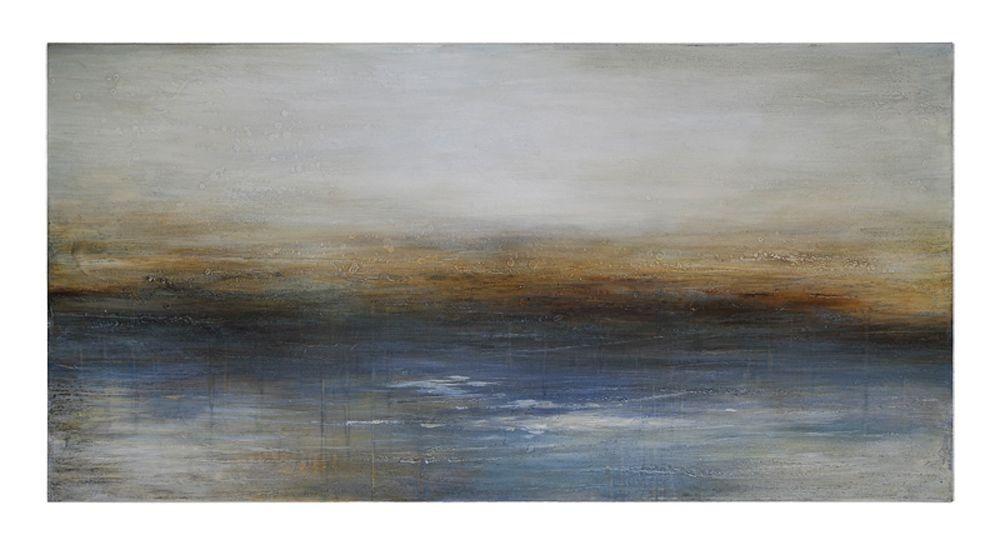 Renwil Inc-OL501-Calm Seas - 57 Inch Decorative Canvas  Grey Finish