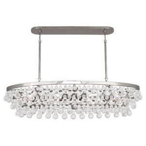 bling eight light oval chandelier - Robert Abbey Lighting