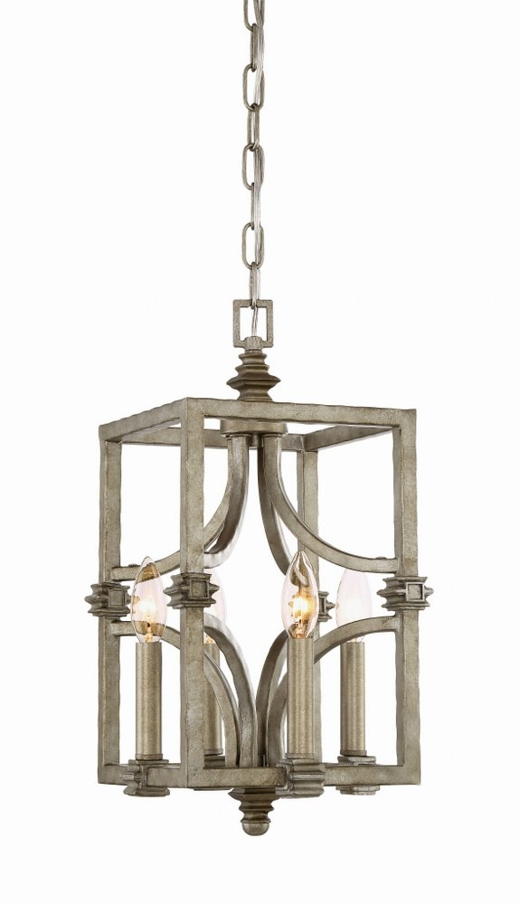 Savoy House-3-4302-4-242-Structure - 4 Light Foyer  Aged Steel Finish