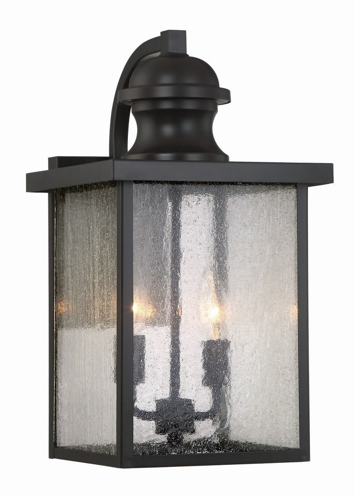 Savoy House-5-602-13-Newberry - 2 Light Outdoor Wall Lantern  English Bronze Finish with Seeded Glass