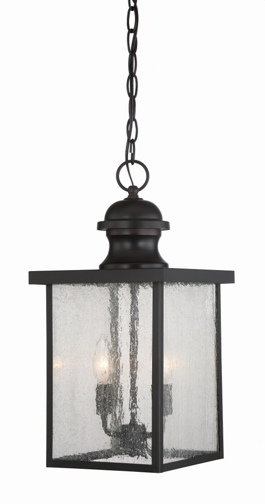 Savoy House-5-603-13-Newberry - 2 Light Outdoor Hanging Lantern  English Bronze Finish with Seeded Glass
