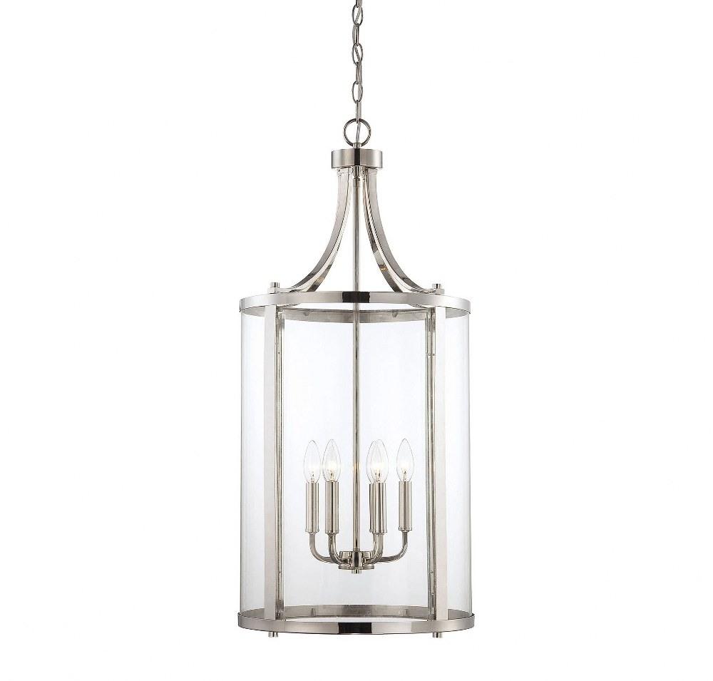 Savoy House-7-1041-6-109-Penrose - 6 Light Medium Foyer  Polished Nickel Finish with Clear Glass