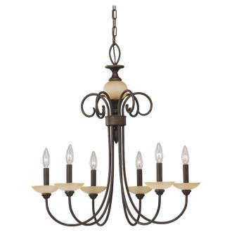 Sea Gull Lighting 31107-72 Six-Light Montclaire Chandelier