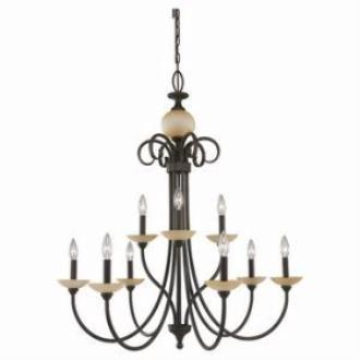Sea Gull Lighting 31108-72 Nine-Light Montclaire Chandelier