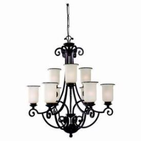 Sea Gull Lighting 31147-814 Nine-Light Acadia Two-Tier Chandelier