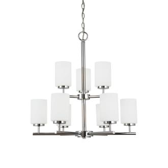Sea Gull Lighting 31162BLE-05 Oslo - Nine Light Chandelier