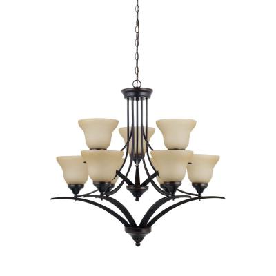 Sea Gull Lighting 31175-710 Brockton - Nine Light 2-Tier Chandelier
