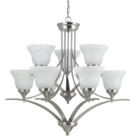 Sea Gull Lighting 31175-962 Brockton - Nine Light 2-Tier Chandelier