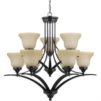 Sea Gull Lighting 31175BLE-710 Brockton - Nine Light 2-Tier Chandelier