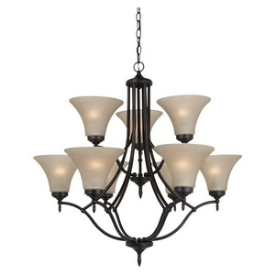 Sea Gull Lighting 31182BLE-710 Montreal - Nine Light Chandelier