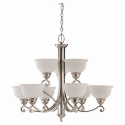 Sea Gull Lighting 31192-962 Nine-Light Serenity Chandelier