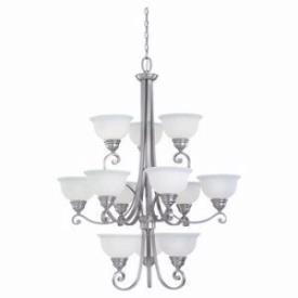 Sea Gull Lighting 31193-962 Twelve-Light Serenity Chandelier