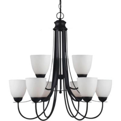 Sea Gull Lighting 31272-839 Uptown - Nine Light 2-Tier Chandelier