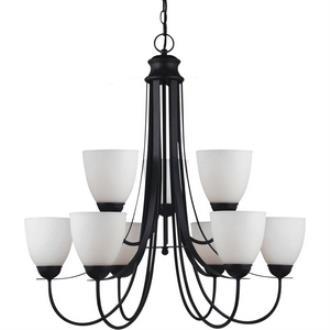 Sea Gull Lighting 31272BLE-839 Uptown - Nine Light 2-Tier Chandelier