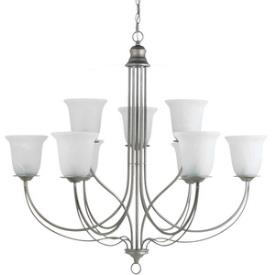 Sea Gull Lighting 31293BLE-57 Plymouth - Nine Light 2-Tier Chandelier