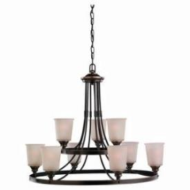 Sea Gull Lighting 31332-825 Nine-Light Warwick Chandelier