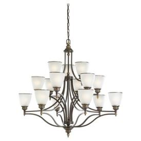 Sea Gull Lighting 31352-708 Laurel Leaf - Fifteen Light Chandelier