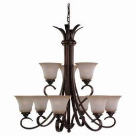 Sea Gull Lighting 31362-829 Nine-Light Rialto Chandelier
