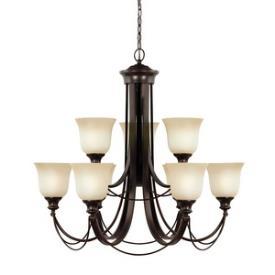 Sea Gull Lighting 31498BLE-710 Park West - Nine Light Chandelier