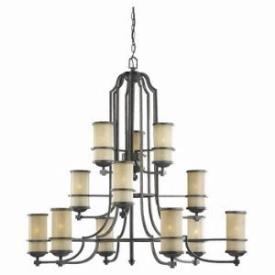 Sea Gull Lighting 31523-845 Twelve Light Bronze Chandelier