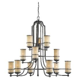Sea Gull Lighting 31523BLE-845 Roslyn - Twelve Light 3-Tier Chandelier