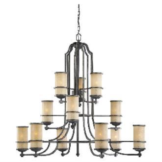 Sea Gull Lighting 31523BLE-845 Roslyn - Twelve Light 3-Tier Chandelier