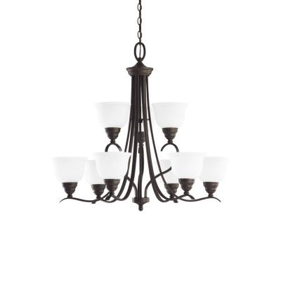 Sea Gull Lighting 31627BLE-782 Wheaton - Nine Light Fluorescent Chandelier