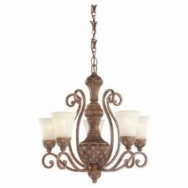 Sea Gull Lighting 31751-758 Five-light Highlands Chandelier With Glass