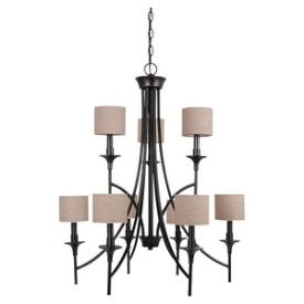 Sea Gull Lighting 31952-710 Stirling - Nine Light Chandelier