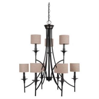 Sea Gull Lighting 31952-710 Stirling - Nine Light Chandelier
