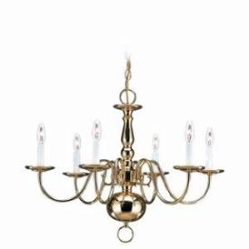 Sea Gull Lighting 3411-02 Six Light Chandelier
