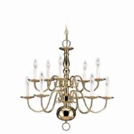 Sea Gull Lighting 3413-02 Ten Light Chandelier