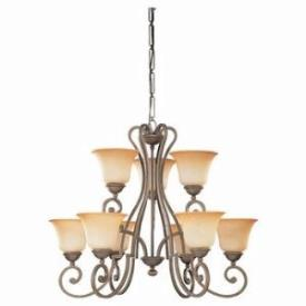 Sea Gull Lighting 39033BLE-71 Nine-light Brandywine Chandelier