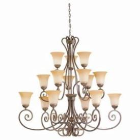 Sea Gull Lighting 39034BLE-71 Fifteen-Light Fluorescent Brandywine Chandelier