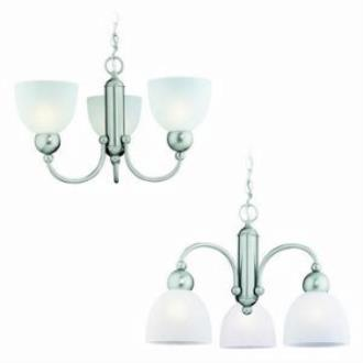 Sea Gull Lighting 39035BLE-962 Three-Light Fluorescent Metropolis Chandelier
