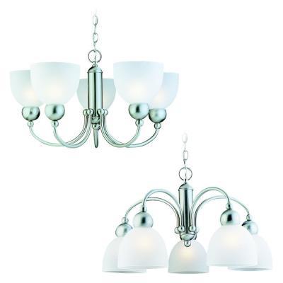 Sea Gull Lighting 39036BLE-962 Five-Light Metropolis Fluorescent Chandelier
