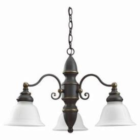 Sea Gull Lighting 39050BLE-71 Three-Light Canterbury Chandelier