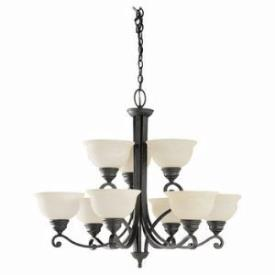 Sea Gull Lighting 39060BLE-07 Nine-light Serenity Chandelier
