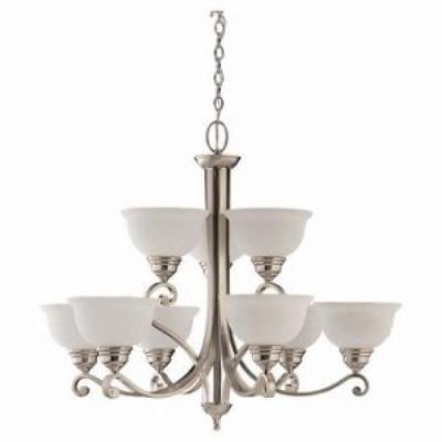 Sea Gull Lighting 39060BLE-962 Nine-light Serenity Chandelier