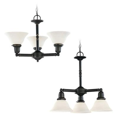 Sea Gull Lighting 39061BLE-782 Three-Light Sussex Fluorescent Chandelier
