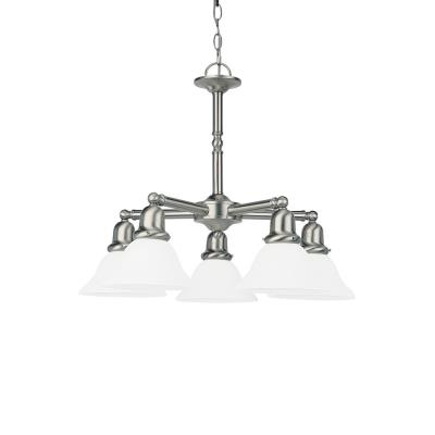 Sea Gull Lighting 39062BLE-962 Five-Light Sussex Fluorescent Chandelier-Nickel